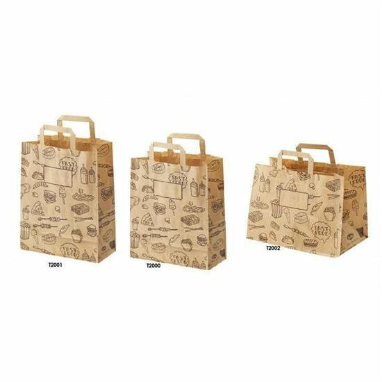 SHOPPER TAKE AWAY IN CARTA 32X20X23 H.50/PZ